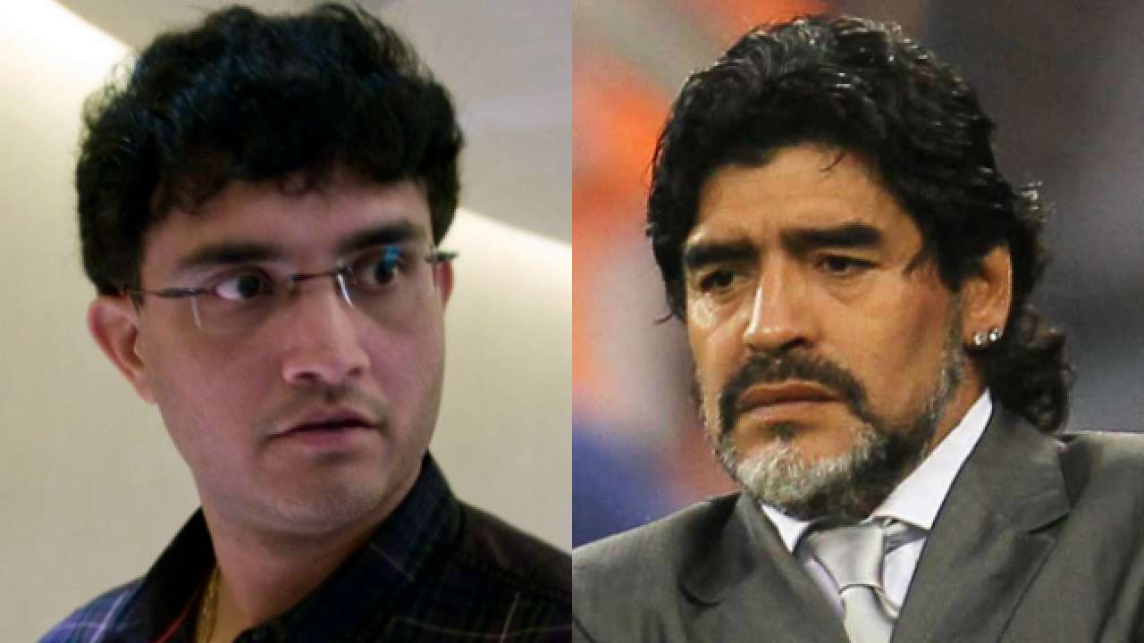 Sourav Ganguly says his football hero Diego Maradona is from another planet