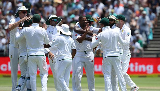 South Africa after winning the first test match | Source Getty