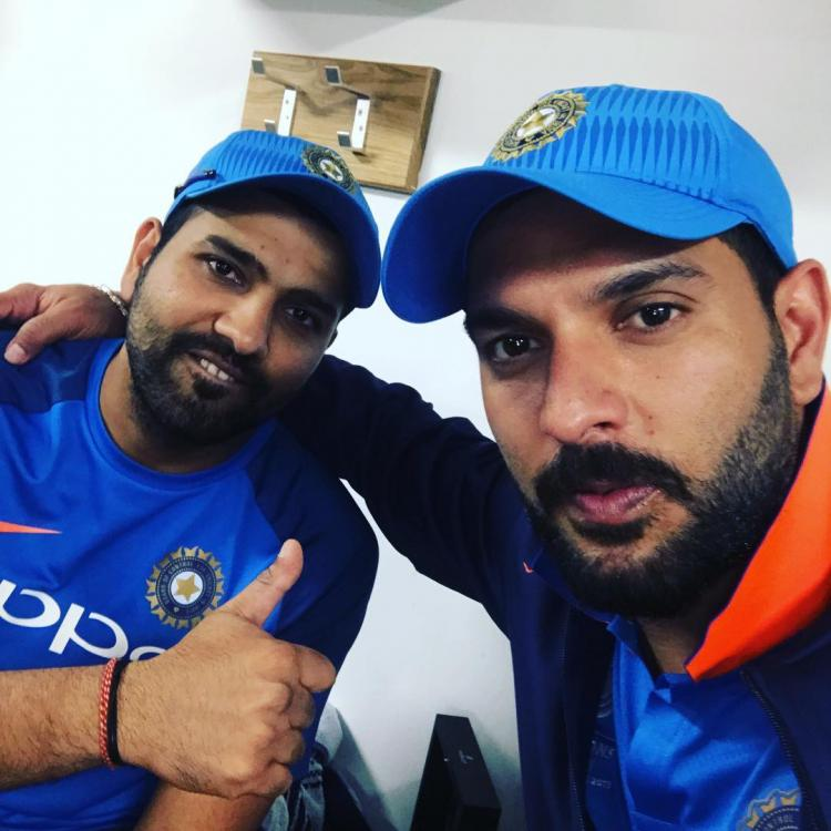 Yuvraj Singh takes a 'cheeky' jab at Rohit Sharma on Instagram