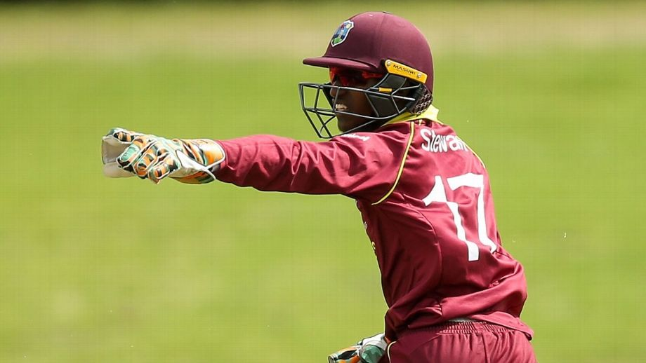 Windies skipper Emmanuel Stewart scored only 1. (Getty)