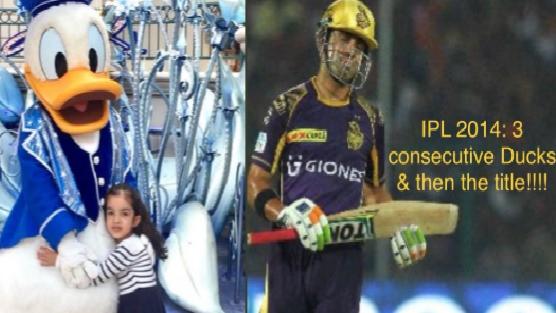 Gautam Gambhir jokes about his IPL 2014 ducks while sharing daughter's picture