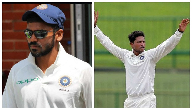 Kona Srikar Bharat's century and Kuldeep Yadav's all-around show puts India A in strong position against Aus A