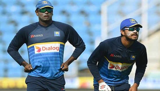 Angelo Mathews and Dinesh Chandimal | AFP