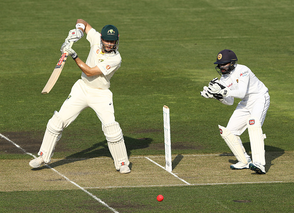 Patterson struck two tons in the warm-up game at Hobart | Getty