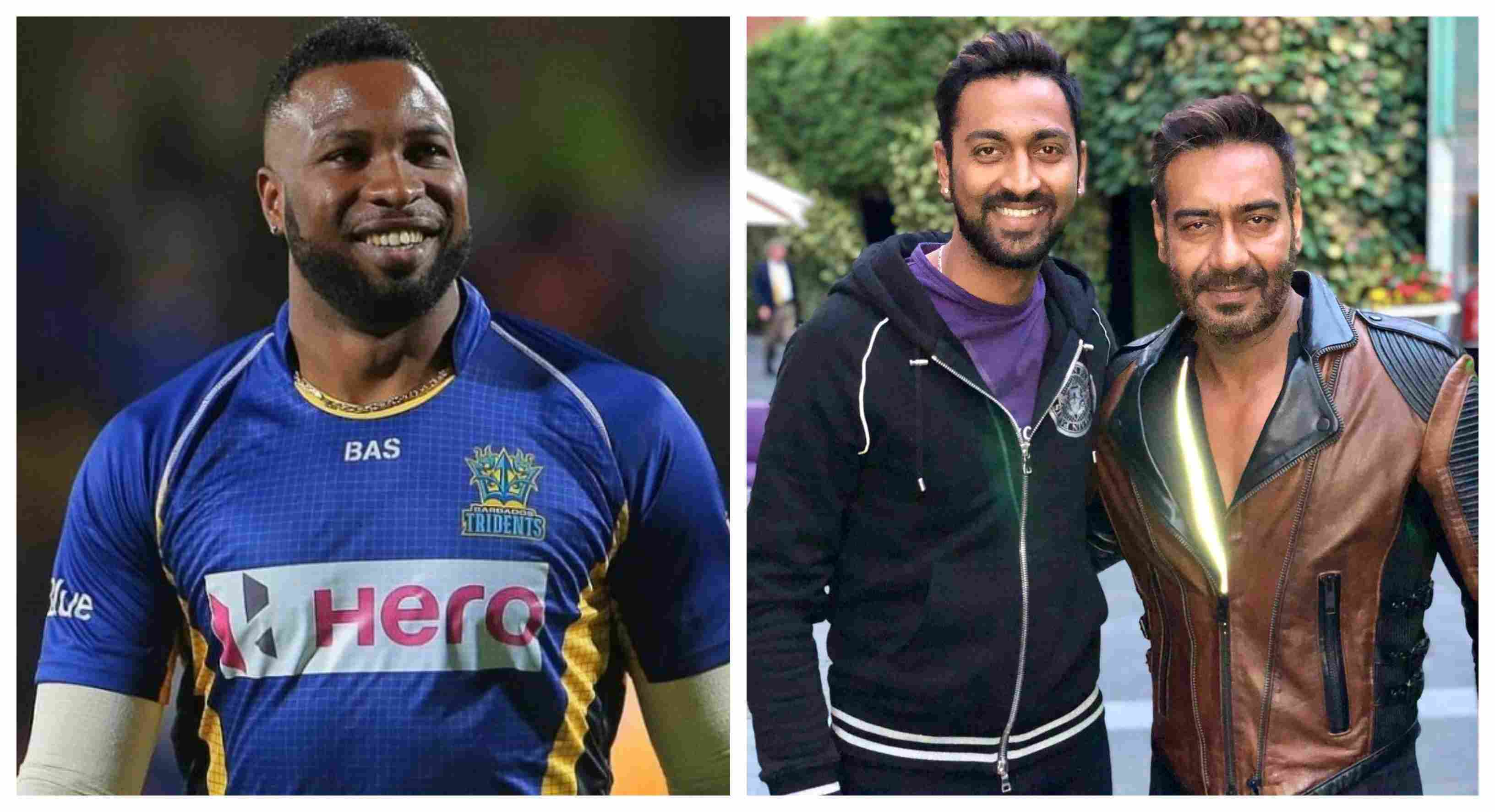 Krunal Pandya's picture with Ajay Devgan spurs humour among him and Pollard