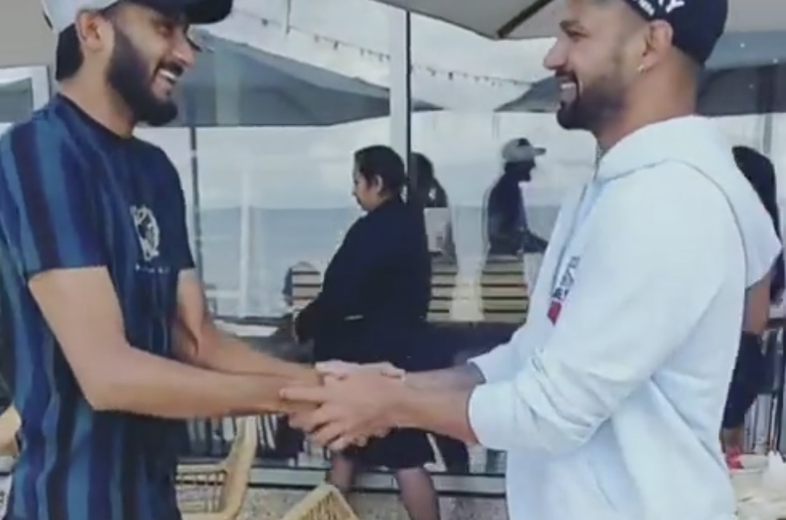 Khaleel Ahmed and Shikhar Dhawan | Screengrab