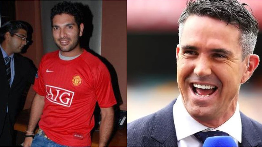 Yuvraj Singh and Kevin Pietersen pulls each other's leg over a football banter