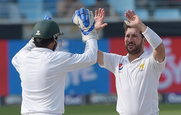 Yasir Shah simply ran through New Zealand with his spell of 14/184 at Dubai | Getty