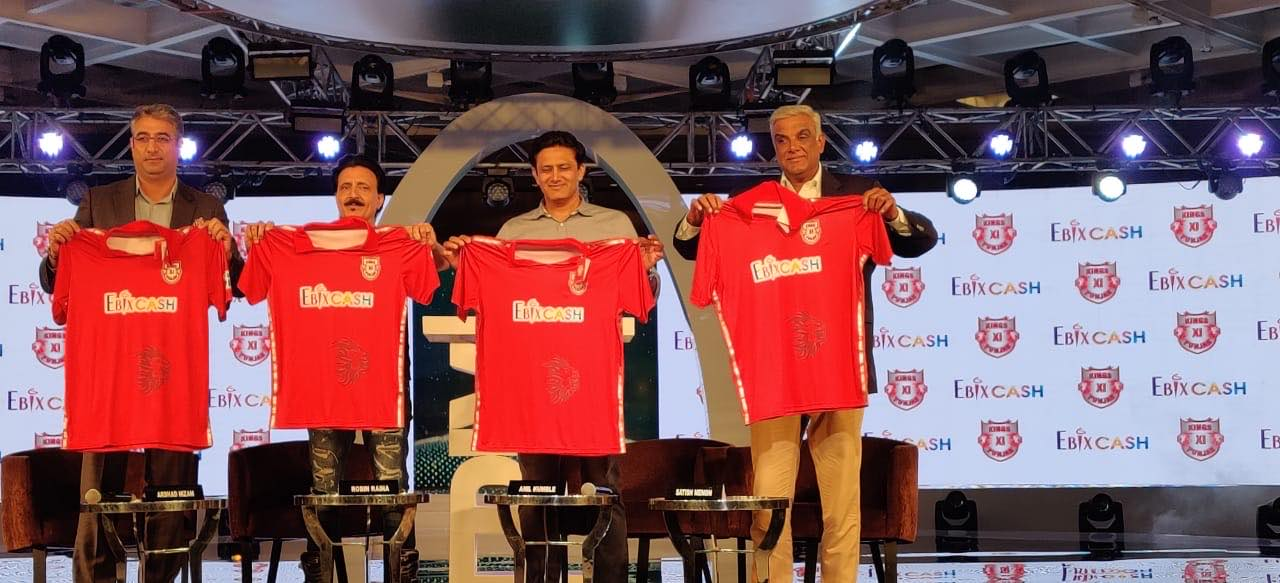 Anil Kumble during the jersey launch of KXIP team