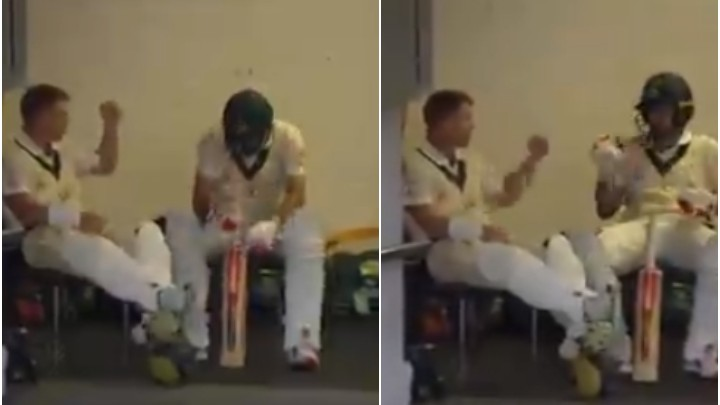 AUS v PAK 2019: WATCH - David Warner and Joe Burns battle each other in game of Rock, Paper and Scissors