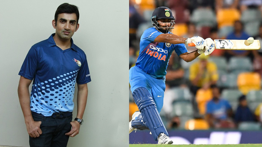 Gautam Gambhir excludes Rishabh Pant from his Indian World Cup 2019 side