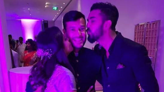 KL Rahul congratulates newlyweds Mayank Agarwal and Aashita Sood