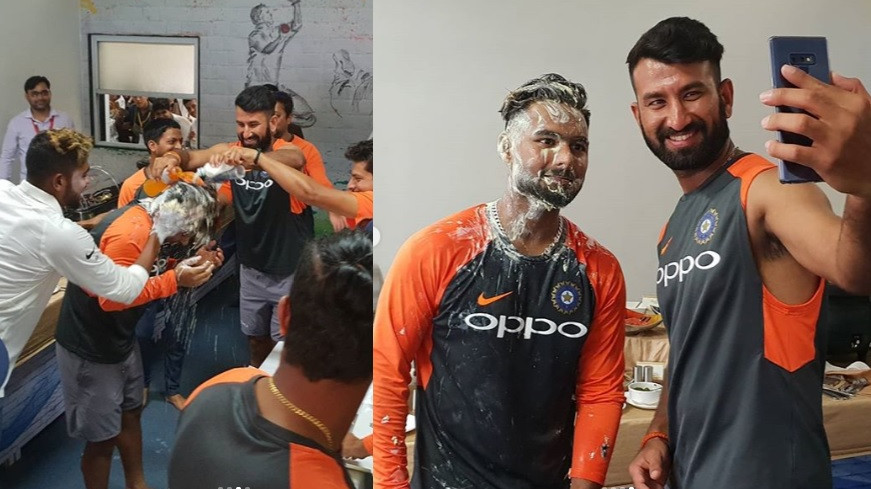 WATCH: Rishabh Pant gets cake smashed on his face as he turns 21