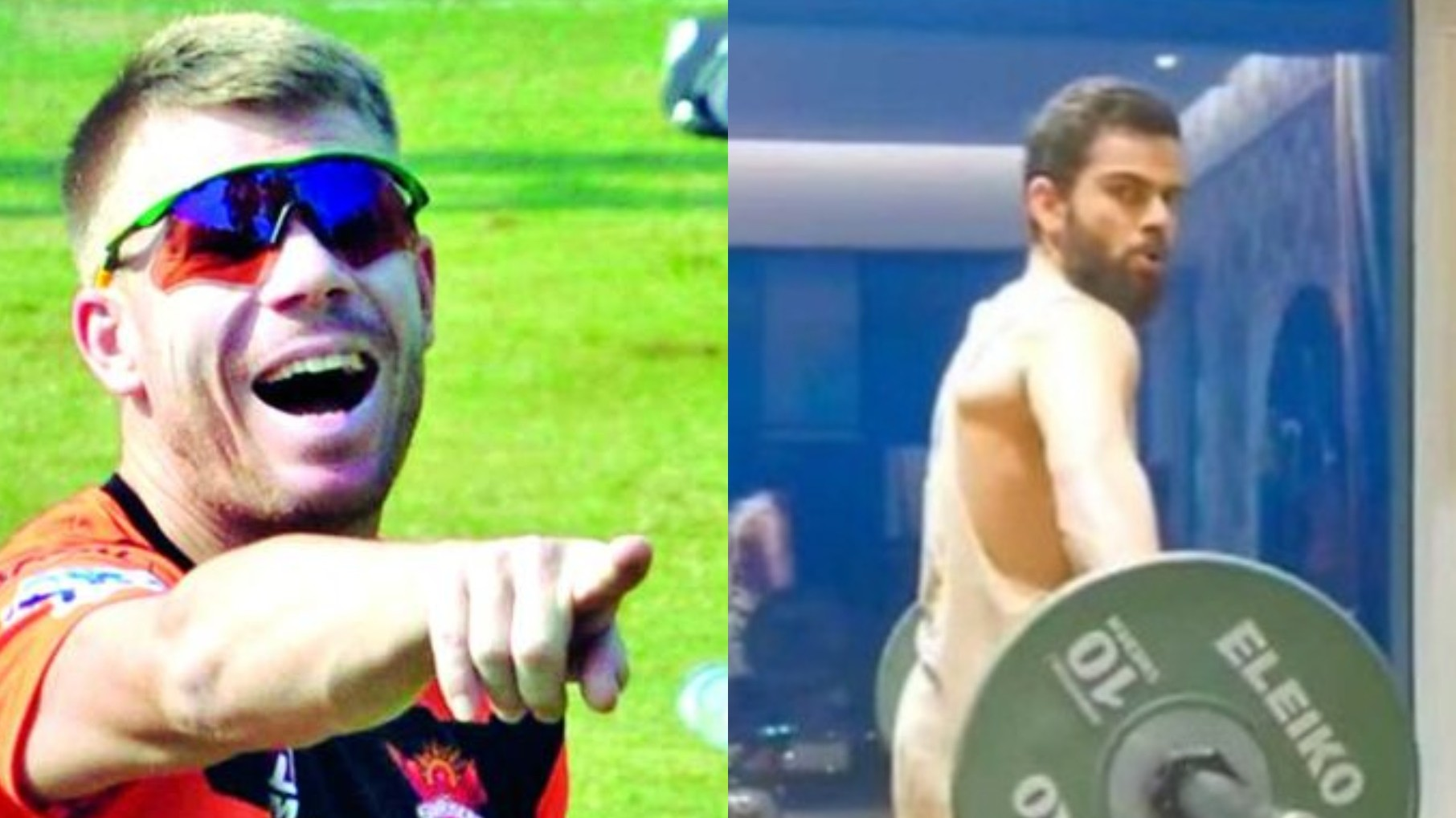 "David Warner pulls Virat Kohli's leg over his new workout video, says ""weights look easy"""