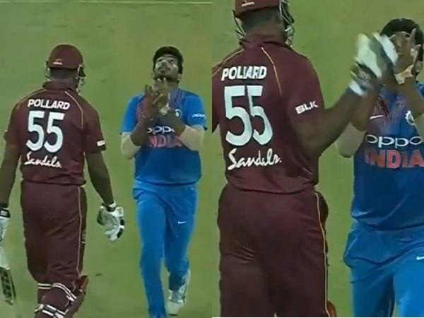 Pollard tried to get cute with Jasprit Bumrah as he was catching the ball | Video Grab