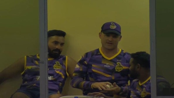 CPL 2019: Dinesh Karthik spotted in Trinbago Knight Riders' dressing room with Brendon McCullum