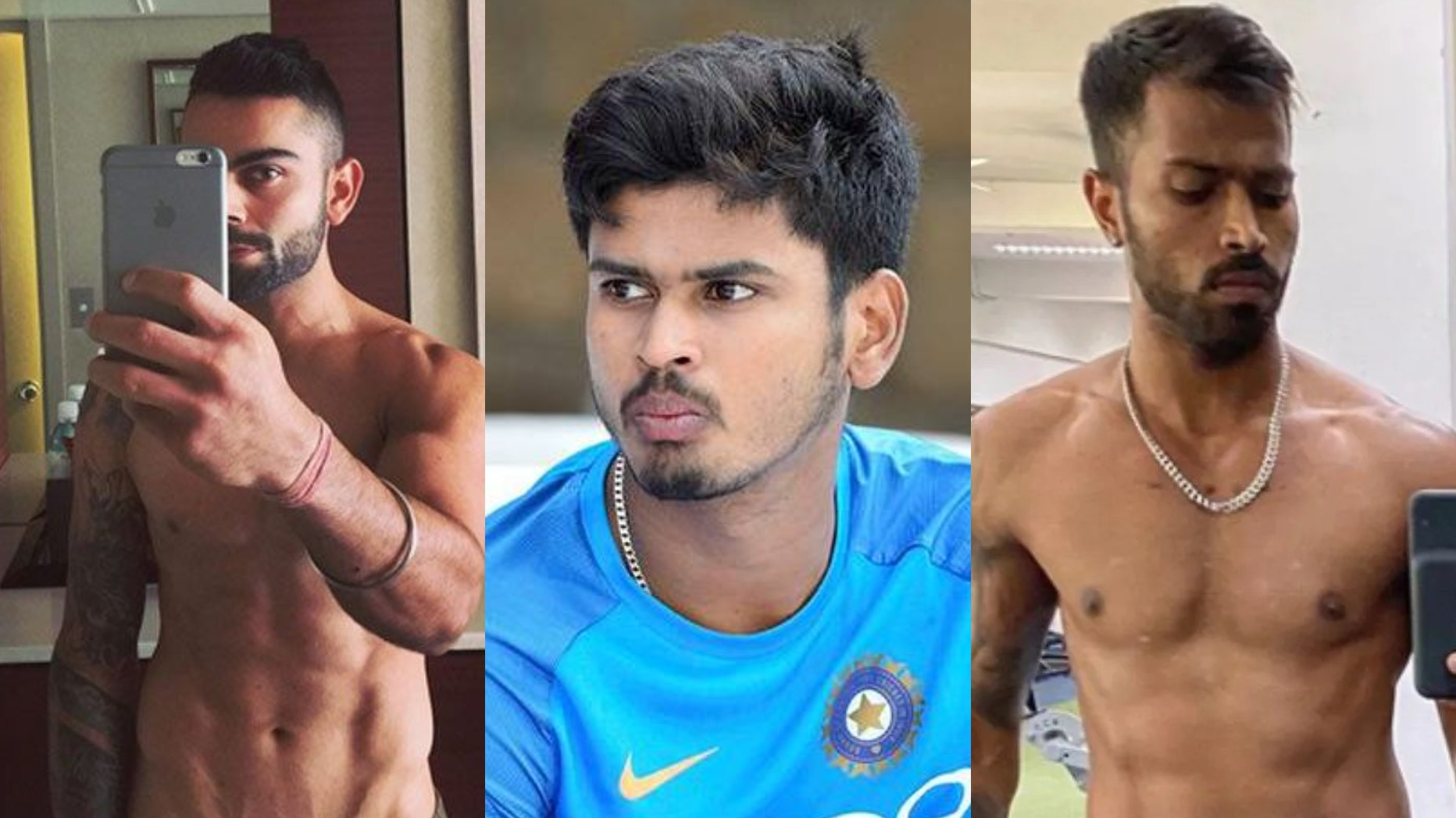 WATCH- Shreyas Iyer picks the winner of an arm-wrestling match between Virat Kohli and Hardik Pandya