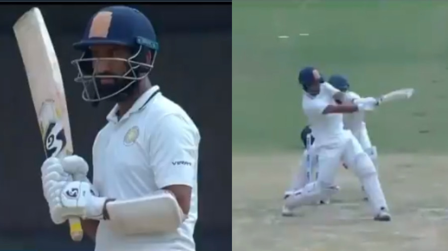 Ranji Trophy 2018-19: WATCH- Cheteshwar Pujara replies with a six after being sledged by Manish Pandey