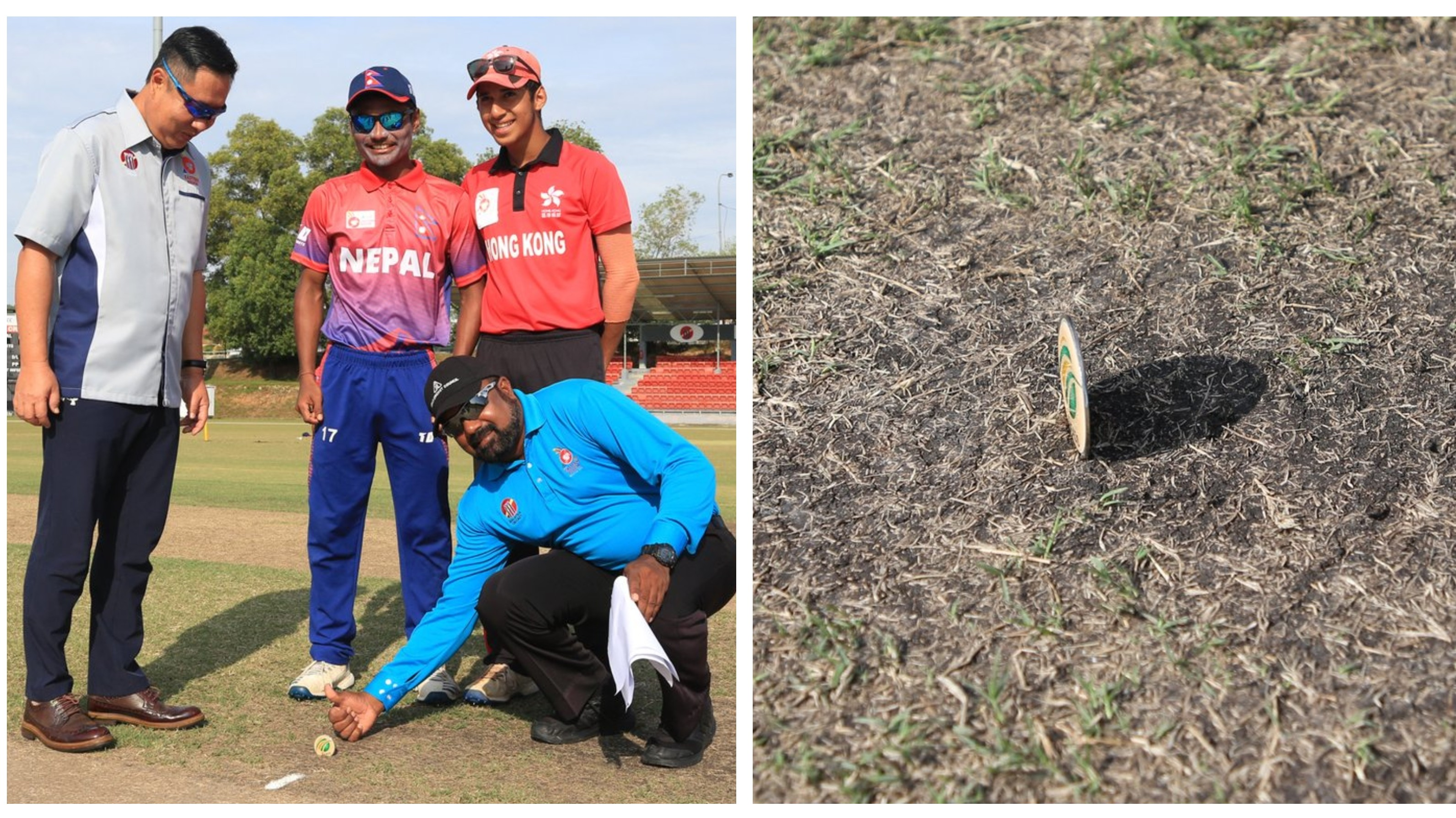 WATCH: Coin lands straight during toss in Nepal-Hong Kong Under-19 match