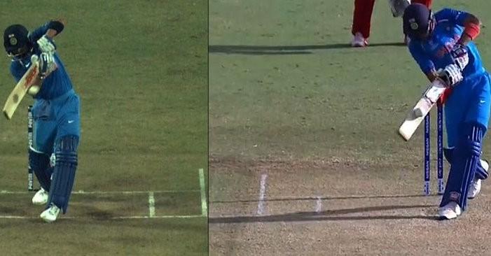 Shubman Gill played a Kohli-alike short-arm jab during the match against Zimbabwe U-19 | Twitter