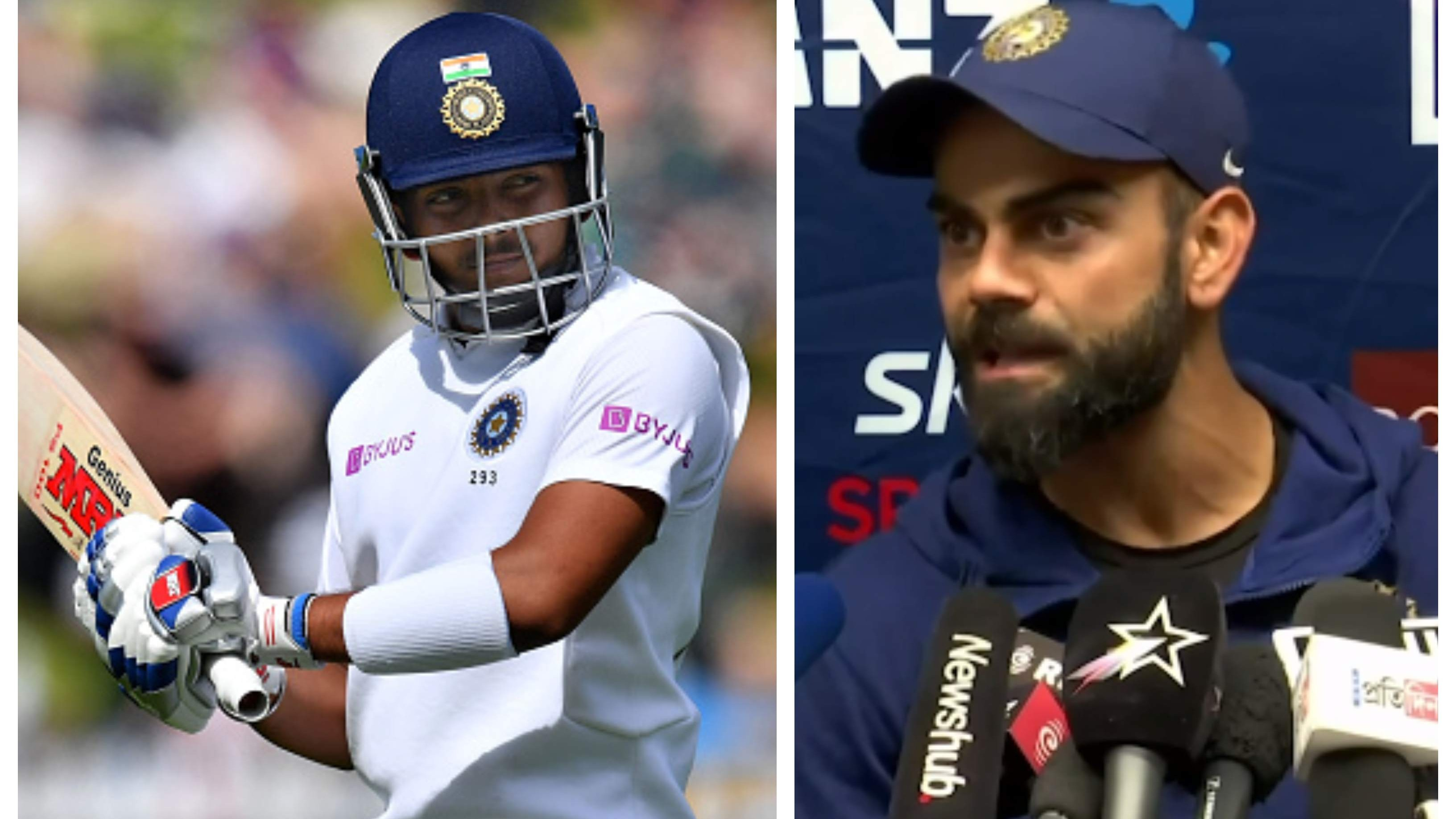 NZ v IND 2020: Virat Kohli plays down the talks of glitches in Prithvi Shaw's technique