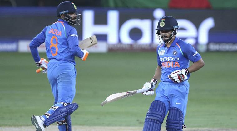 Kedar Jadhav won India the Asia cup virtually on one leg | Getty Images
