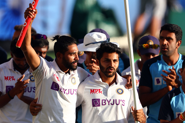 Shardul Thakur and Mohammad Siraj both were part of India's memorable Test series win in Australia   Getty Images