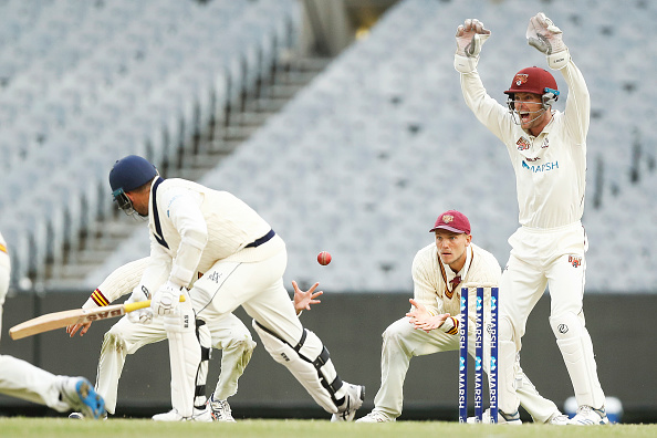 Players in action during a Sheffield Shield match | Getty