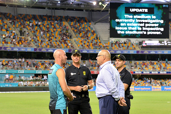 The BBL match between Brisbane Heat and Sydney Thunder was called off following a power outage | Getty