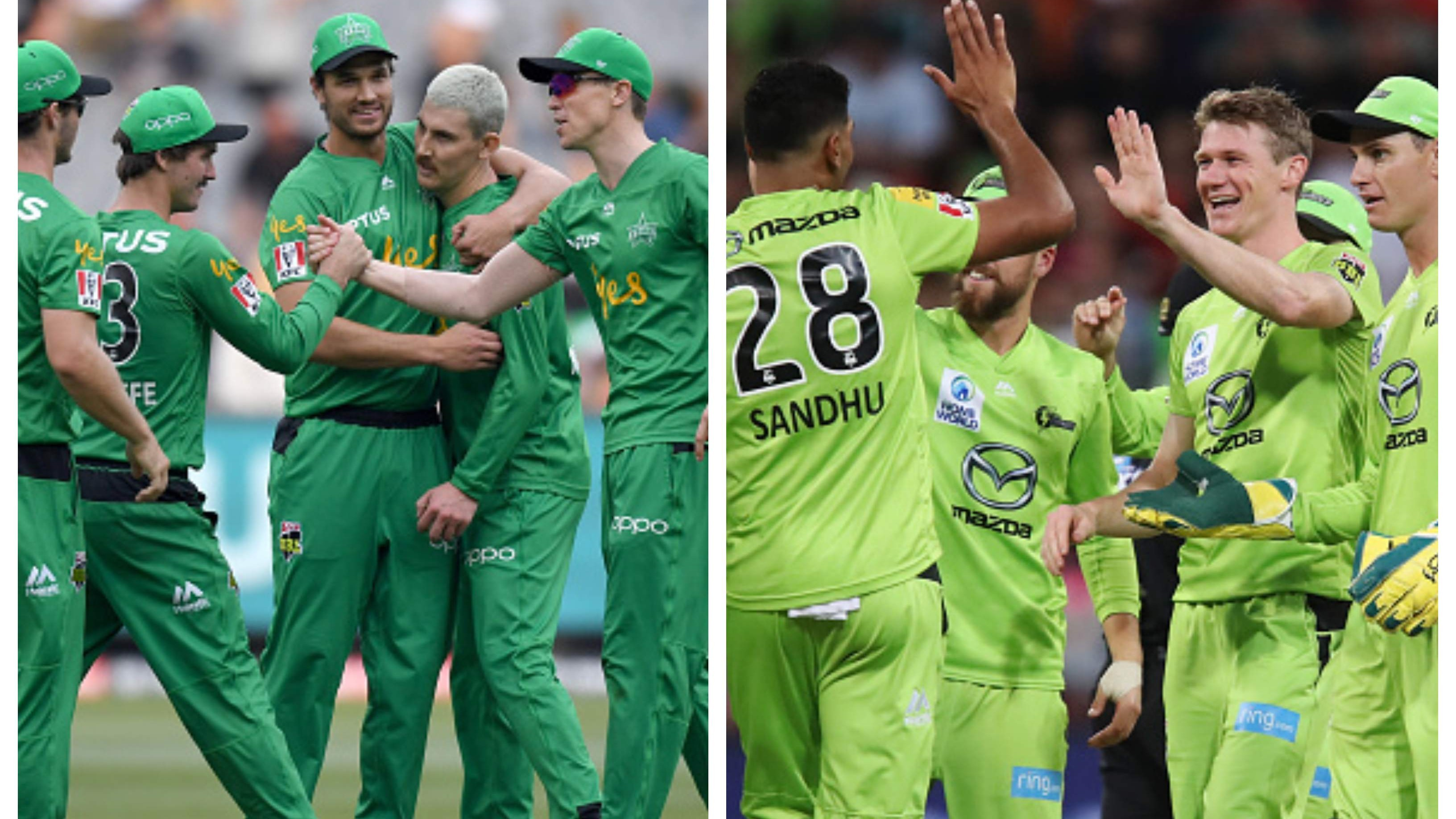 BBL 09: Stars win a low-scoring affair versus Scorchers; Thunder beat Sixers in a rain-marred contest