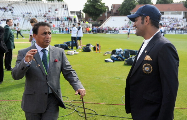 MS Dhoni and Sunil Gavaskar | GETTY
