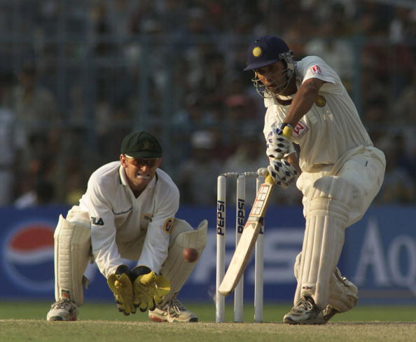 VVS Laxman during his epic 281 against Australia in Kolkata in 2001 Test | Getty