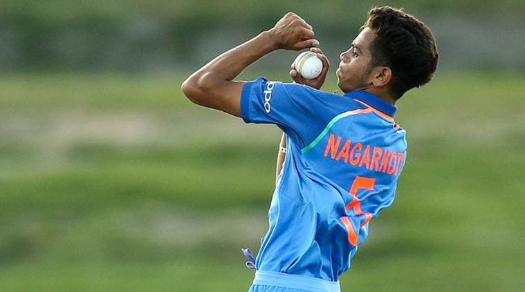 Kamlesh Nagarkoti consistently clocked 145 kmph and grabbed three wickets | Twitter