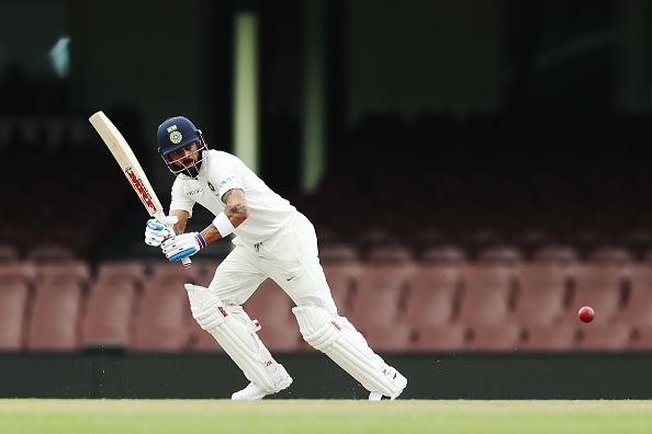 Virat Kohli bats during the tour game against Cricket Australia XI   Getty