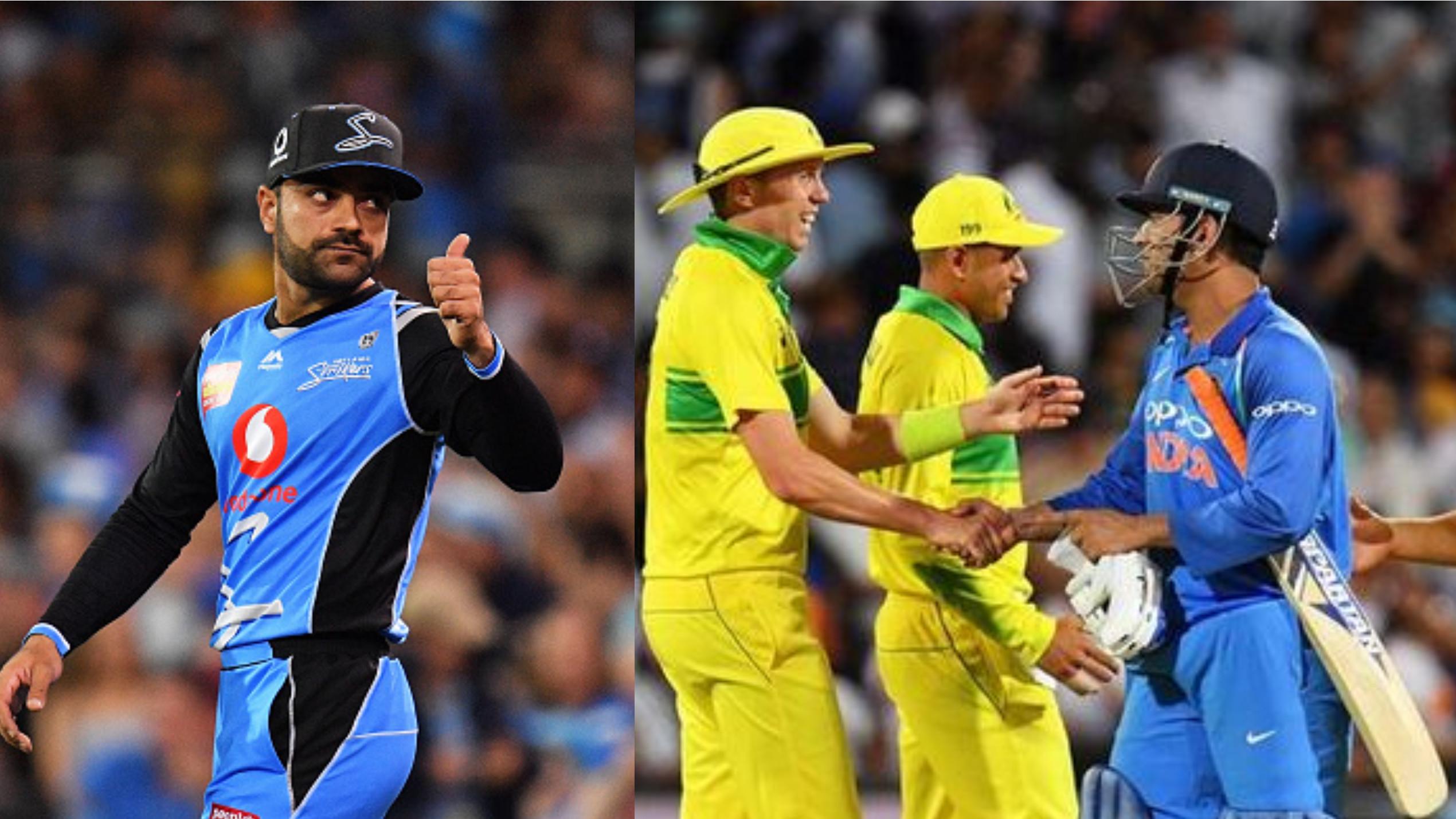 AUS v IND 2018-19 : राशिद खान ने लिया एडिलेड ओवल में ऑस्ट्रेलिया के खिलाफ भारत के मैच का आनंद