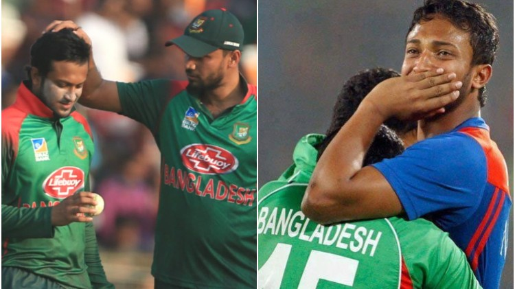Mashrafe Mortaza and Mushfiqur Rahim post emotional messages for banned Shakib Al Hasan