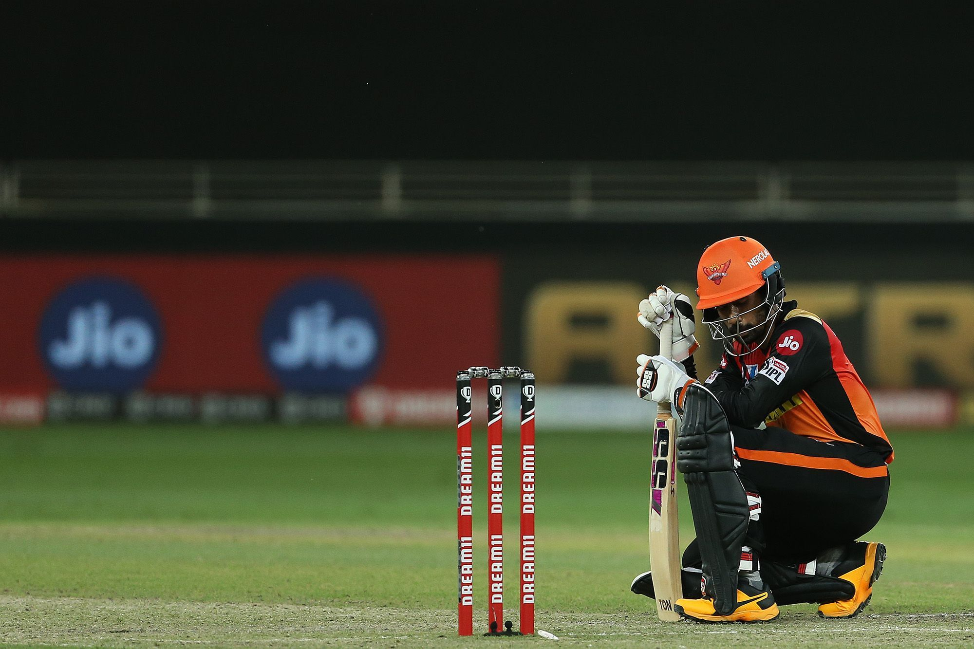 Saha looked visibly discomforted during the end of his knock | BCCI/IPL