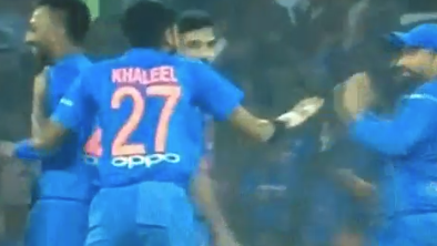 IND v WI 2018: WATCH – Khaleel Ahmed's wild celebration hit Rohit Sharma on the face