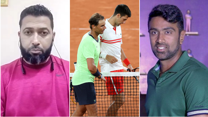 Indian cricketers react to Novak Djokovic's victory over Rafael Nadal in an intense match