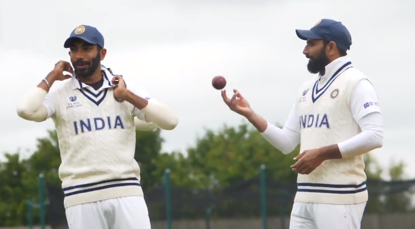 Jasprit Bumrah and Mohammad Shami | BCC/Twitter