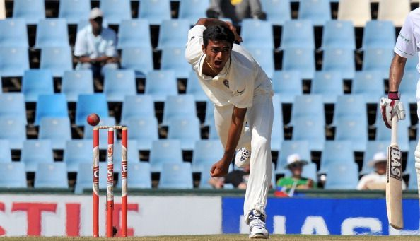 Jaydev Unadkat during his Test debut in South Africa | Getty
