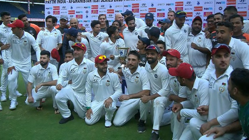 IND v AFG 2018: Team India lauded for their gesture of calling up Afghanistan for a group photo