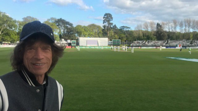 Legendary singer Mike Jagger embraces the occasion of Ireland's inaugural Test