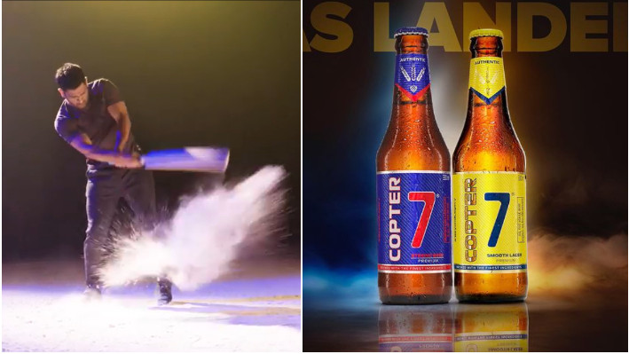 MS Dhoni's helicopter shot and jersey number 7 inspired beer launching in Mumbai, Goa