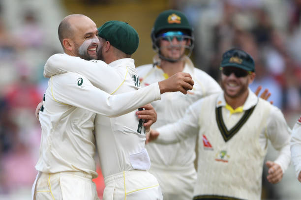 Nathan Lyon picked up 9 wickets in the first Ashes Test. (photo - getty)
