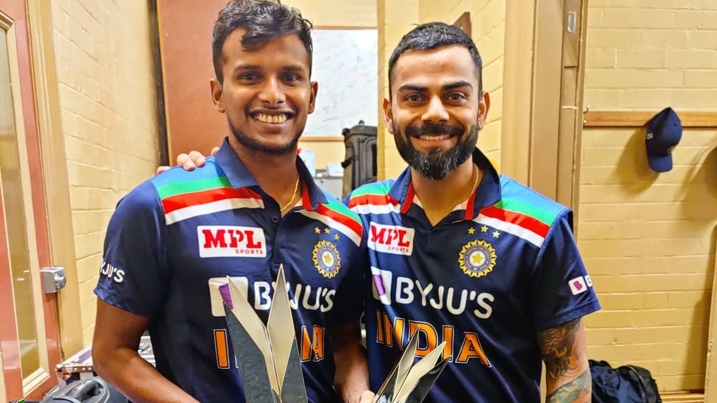 AUS v IND 2020-21: T Natarajan thanks India teammates for support and encouragement