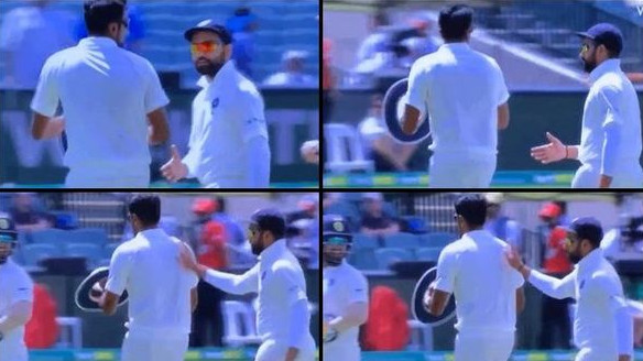 AUS v IND 2018-19: WATCH – R Ashwin ignores Rohit Sharma's handshake request
