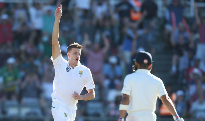 Morne Morkel dismissed Kohli with a bouncer outside off stump