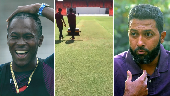 IND v ENG 2021: Wasim Jaffer stops Jofra Archer as he gets excited seeing a green pitch at Motera