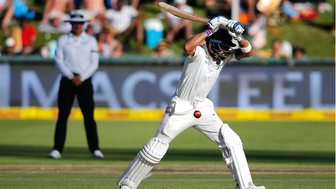 Virat Kohli leaves one during the Cape Town Test | AFP